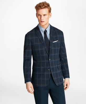 Brooks Brothers Milano Fit Windowpane Knit Sport Coat