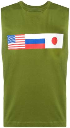 Gosha Rubchinskiy sleeveless flag tee