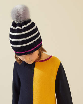 Jigsaw Neon Stripe Pom Hat
