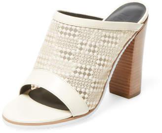 Tibi Women's Nora Mesh Peep-Toe Sandal
