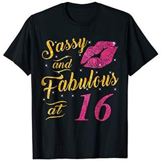 16th Birthday Gift Shirt Sassy And Fabulous 16 Year Old Tee
