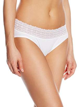 Palmers Women's Slip Laceband Cotton Boxer Brief,(Manufacturer Size: XL (48-50)