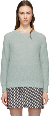 ALEXACHUNG Blue Easy Fit Sweater