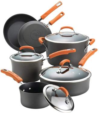 Rachael Ray Hard-Anodized Non-Stick Cookware Set (10 PC)
