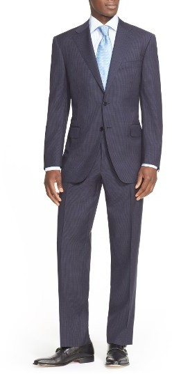CanaliMen's Canali Classic Fit Check Wool Suit