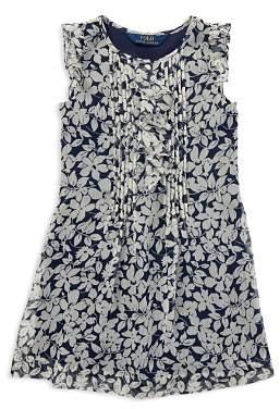 Ralph Lauren Girls' Floral Chiffon Dress - Little Kid