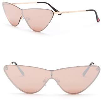Betsey Johnson 140mm Cat Eye Shield Sunglasses