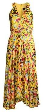 Saloni Rita Silk Floral Hankerchief Dress
