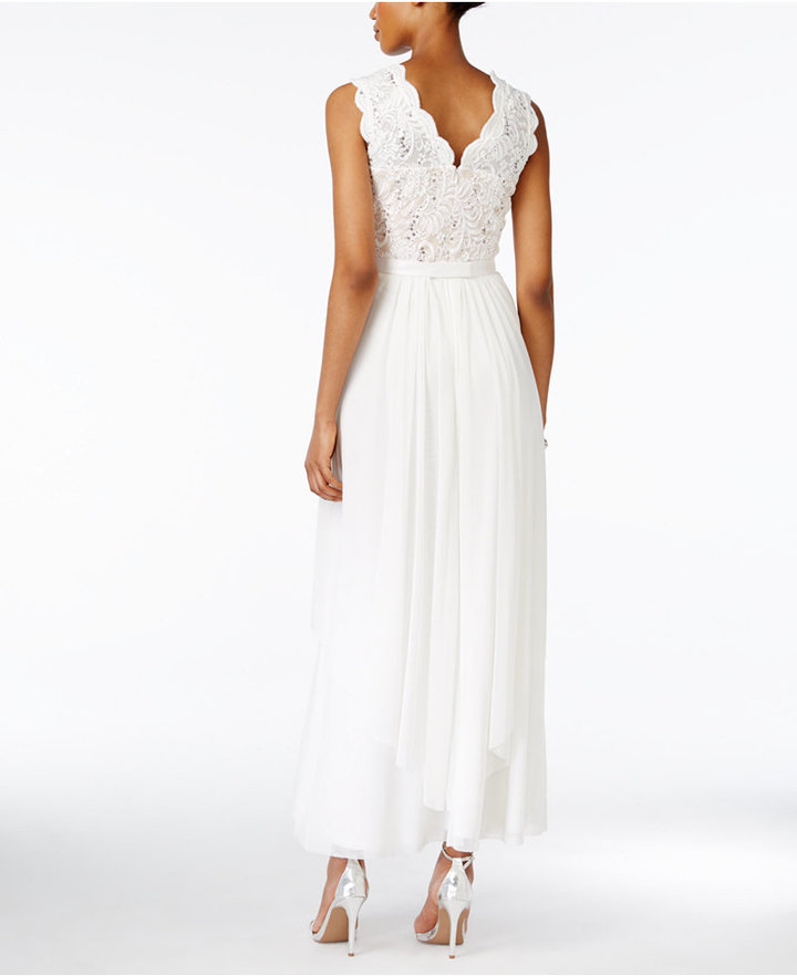 R & M Richards Sequined Lace Chiffon Gown 3