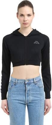 Kappa Logo Tape Interlock Cropped Sweatshirt