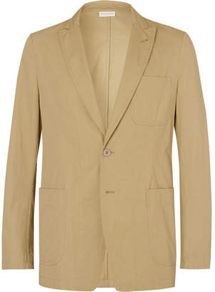 Dries Van Noten Sand Boxer Unstructured Cotton-Twill Suit Jacket
