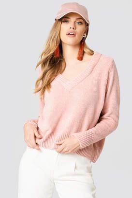 Just Female Velvet V-Neck knit
