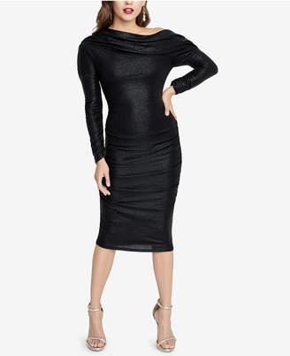 Rachel Roy Metallic Ruched Sheath Dress