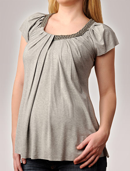 Apeainthepod Bailey 44 Short Sleeve Scoop Neck Hardware Detail Maternity T Shirt