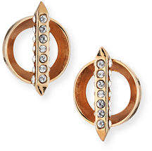 MIO Cyn Bar Stud Crystal Earrings