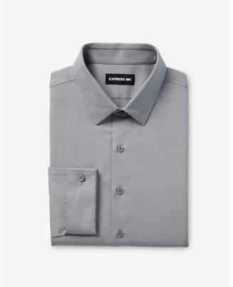 Express slim fit twill french cuff 1MX shirt