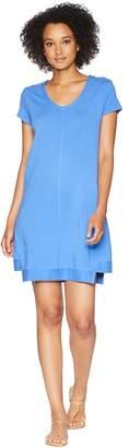 Mod-o-doc Cotton Modal Spandex French Terry Seamed Step Hem T-Shirt Dress Women's Dress