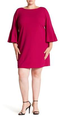 Eliza J Bell Sleeve Sheath Dress (Plus Size)
