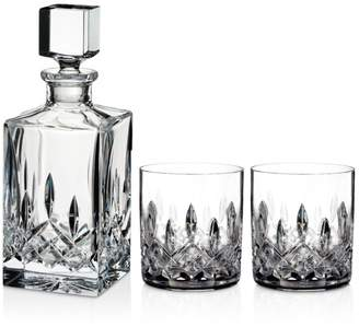 Waterford Lismore 3-Piece Connoisseur Square Decanter and Tumbler Set