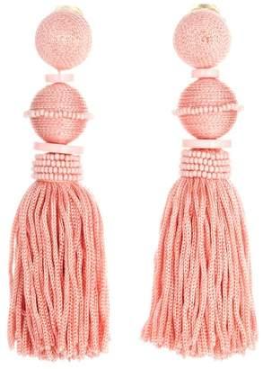 Oscar de la Renta Ball Tassel Drop Clip On Earrings