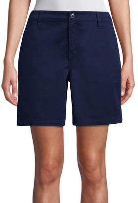 ST. JOHN'S BAY Womens Mid Rise Chino Short