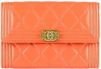 Chanel Boy Orange Leather Wallets