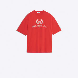 Balenciaga Cotton T-shirt with front 'BB Balenciaga' print