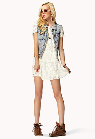 Forever 21 Drop Waist Lace Dress