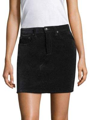 rag & bone/JEAN Dive Velvet Mini Skirt