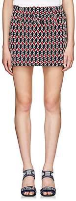 Prada Women's Geometric Knit Miniskirt