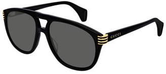 b878fc70451a Mens Round Acetate Sunglasses - ShopStyle