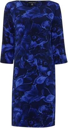Ellen Tracy Printed flower 34 sleeve dress
