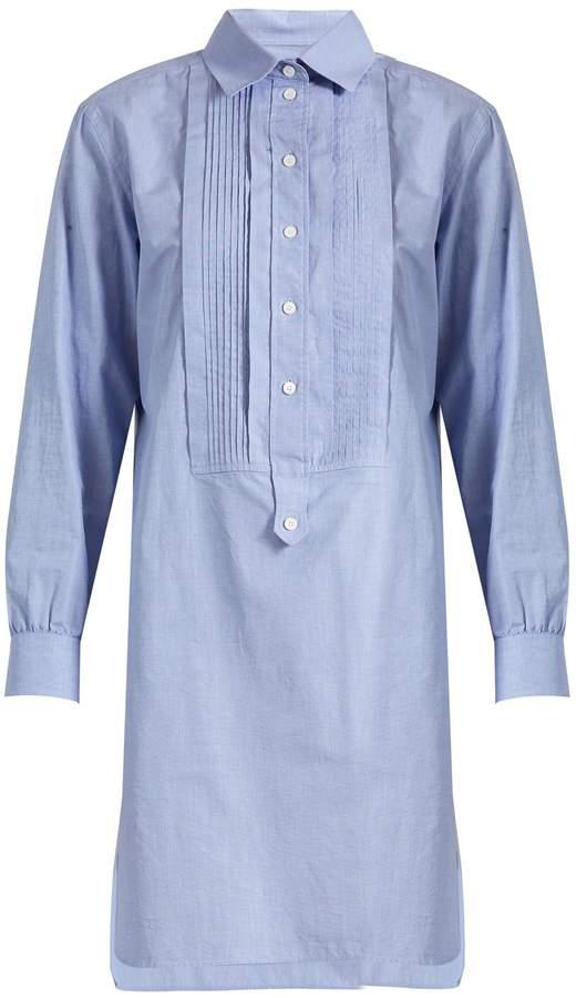 Burberry BURBERRY Bib-front cotton-chambray shirtdress
