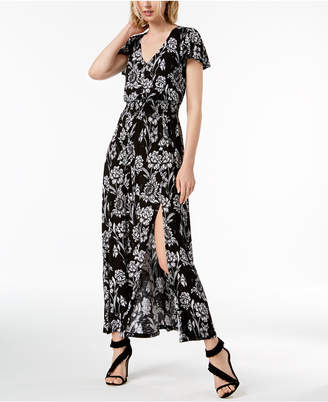 INC International Concepts I.N.C. Floral-Print Shirred-Waist Dress, Created for Macy's