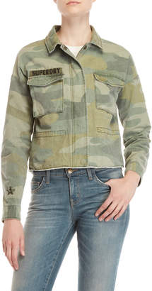 Superdry Washed Camo Cropped Utility Jacket
