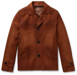 Burnished-Suede Jacket