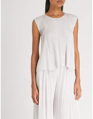 Pleats Please Issey Miyake Flared pleated top