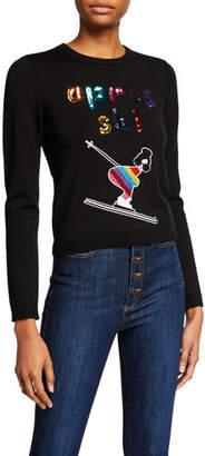 Alice + Olivia Connie Apres Ski Embellished Pullover