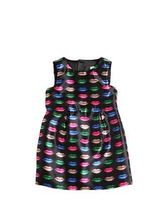Milly Minis Lips Print Duchesse Dress