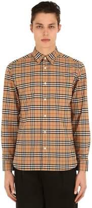 Burberry George Checked Cotton Poplin Shirt