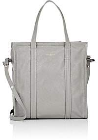 Balenciaga Women's Bazar Arena Leather Small Shopper Tote Bag - Gray