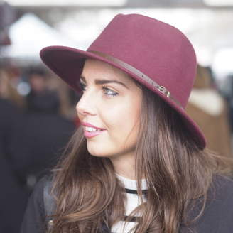 d540a95bcf2f3d Mu Du London Burgundy Belted Fedora