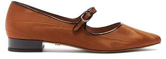 Alexachung - Point Toe Faille Flats - Womens - Brown
