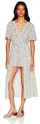 Speechless Women's Short Sleeve Maxi Length Romper