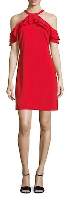Ruffle Cold Shoulder Dress $158 thestylecure.com