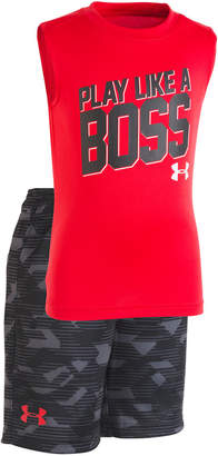 Under Armour 2-Pc. Graphic-Print Tank Top & Camo-Print Shorts Set, Little Boys