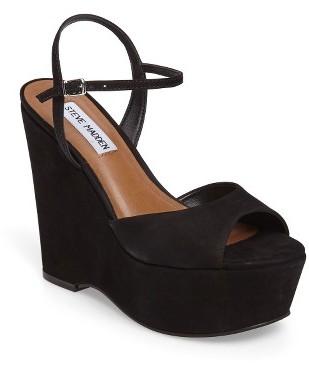 Women's Steve Madden Rosey Platform Wedge Sandal $129.95 thestylecure.com