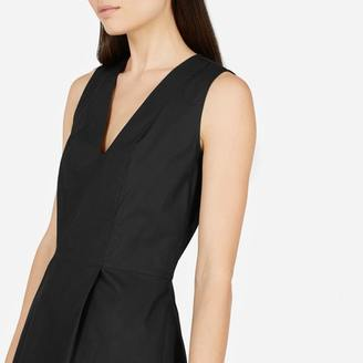 The Cotton Poplin Sleeveless V-Neck Flare Dress $70 thestylecure.com