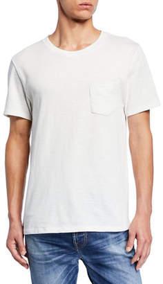 7 For All Mankind Men's Boxer Short-Sleeve Pocket Tee