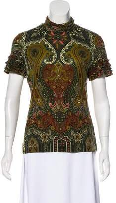 Etro Wool Paisley Top